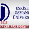2015 2016 Osmangazi Üni PDR Yüksek Lisans/Doktora