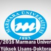 2015 2016 Marmara Üniversitesi PDR Yüksek Lisans/Doktora