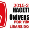 2015-2016 Hacettepe Üniversitesi PDR Yüksek Lisans/Doktora