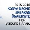 2015 2016 Necmettin Erbakan Üni PDR Yüksek Lisans